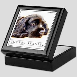 Gorgeous Black Cocker Spaniel Keepsake Box