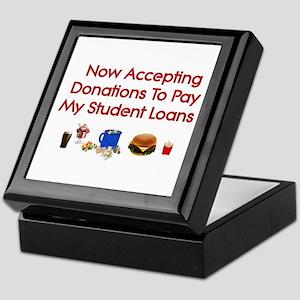 Student Loan Donations Keepsake Box