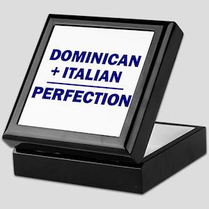 50% Italian + 50% Dominican Keepsake Box