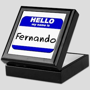 hello my name is fernando Keepsake Box