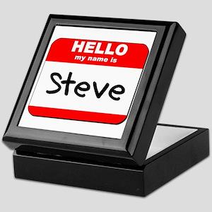 Hello my name is Steve Keepsake Box