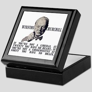 Churchill on Conservatives Keepsake Box