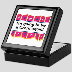 I'm Going to be a Gram Again! Keepsake Box