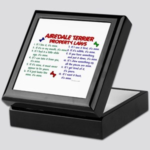 Airedale Terrier Property Laws 2 Keepsake Box