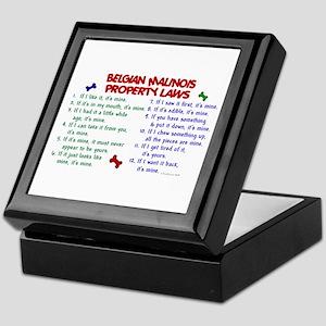 Belgian Malinois Property Laws 2 Keepsake Box