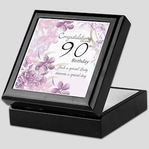 90th Birthday Celebration Design Keepsake Box