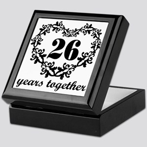 26th Anniversary Heart Keepsake Box