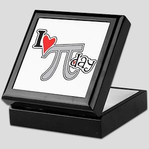 I heart (love) Pi Day Keepsake Box