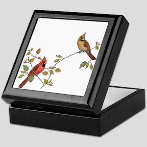 Cardinal Couple Keepsake Box