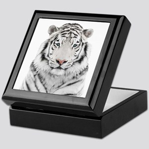 White Tiger Head Keepsake Box