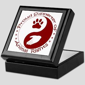 Supporter of Animal Rights Keepsake Box