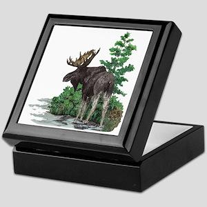 Bull moose art Keepsake Box