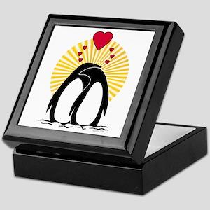 Loving Penguins (sunburst) Keepsake Box
