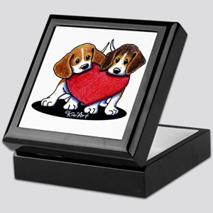 Beagle Heartfelt Duo Keepsake Box