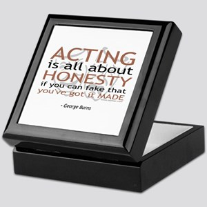 George Burns Acting Quote Keepsake Box