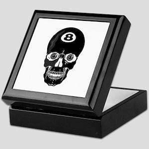 Eight Ball (8 Ball) Skull Keepsake Box