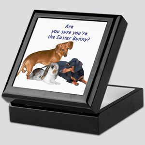 Are you the Easter Bunny Dogs Keepsake Box