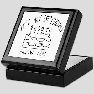 birthday blow me Keepsake Box