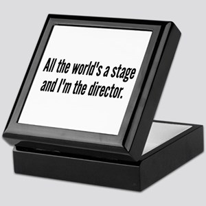 World's a Stage I'm Directing Keepsake Box