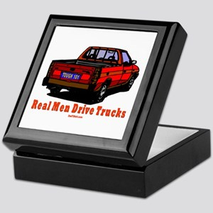Real Men Drive Trucks Keepsake Box