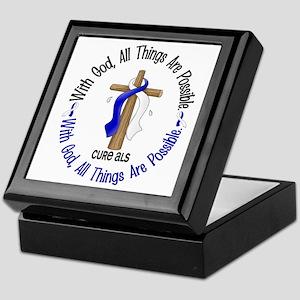 With God Cross ALS Keepsake Box