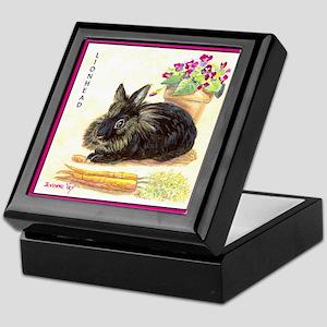 Lionhead rabbit Keepsake Box