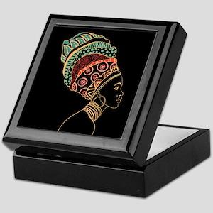 African Woman Keepsake Box
