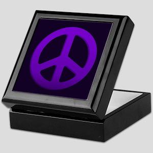 Purple Fade Peace Sign Keepsake Box