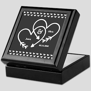 Mr. and Mrs. Wedding Customizable Gra Keepsake Box