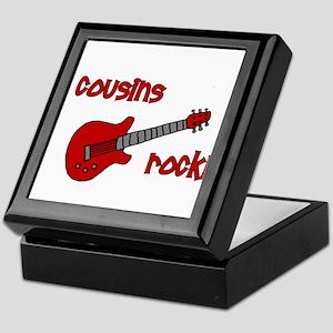 Cousins Rock! red guitar Keepsake Box