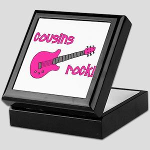 Cousins Rock! pink guitar Keepsake Box
