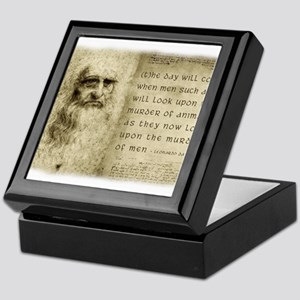 Da Vinci Animal Quote Keepsake Box