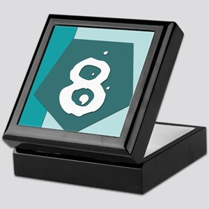 Number Eight Keepsake Box