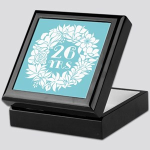 26th Anniversary Wreath Keepsake Box