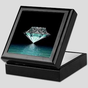 Aqua Diamond Keepsake Box