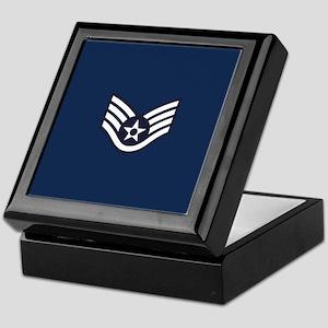USAF: SSgt E-5 (Blue) Keepsake Box