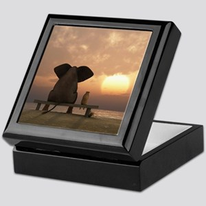 Elephant and Dog Friends Keepsake Box
