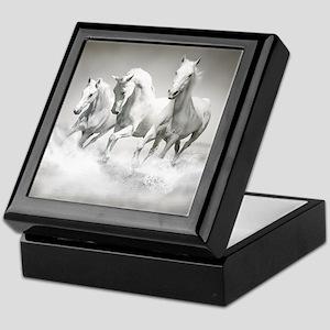 Wild White Horses Keepsake Box