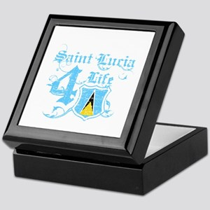 Saint Lucia for life designs Keepsake Box