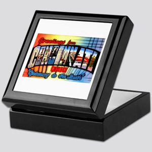 Cincinnati Ohio Greetings Keepsake Box