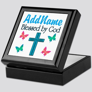 BLESSED BY GOD Keepsake Box