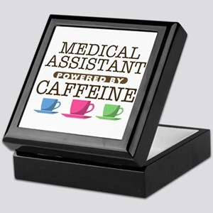 Medical Assistant Powered by Caffeine Keepsake Box