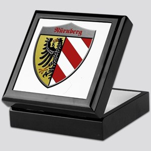 Nuremberg Germany Metallic Shield Keepsake Box