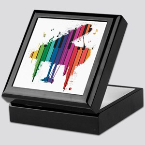 Paint Splash Piano Keepsake Box