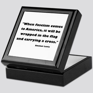 When Fascism Comes Keepsake Box