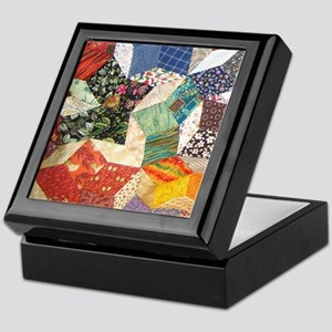 Tumbling Blocks Patchwork Quilt Keepsake Box