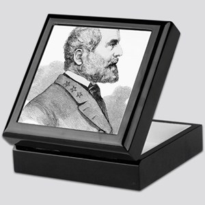 Robert E Lee Portrait Illustration Keepsake Box