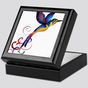 Colorful Hummingbird Keepsake Box