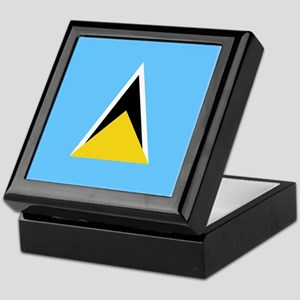 Flag of Saint Lucia Keepsake Box