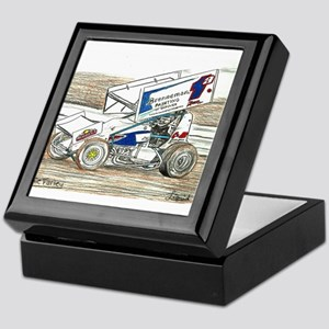 Sprints at Lincoln Keepsake Box